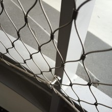 Balustrade infill stainless steel cable mesh
