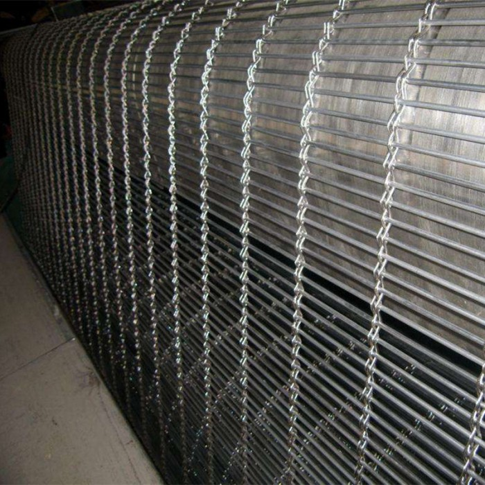 Stainless steel construction decorative facade mesh