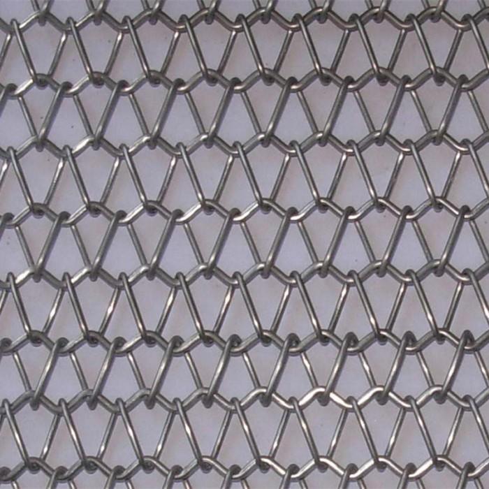 Spiral link metal decorative mesh