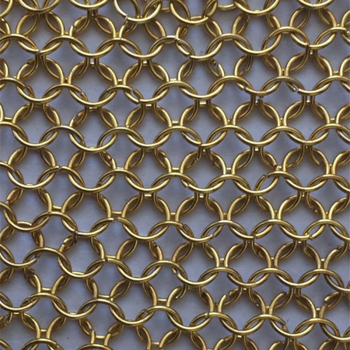 Metal ring decorative mesh
