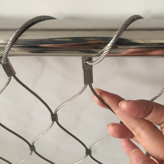 stainless steel cable mesh for animal enclosure
