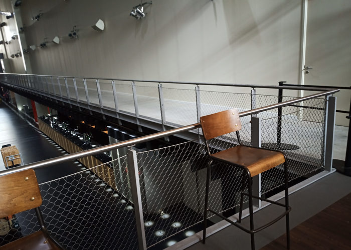 stainless steel webnet and mesh railing